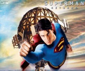Puzzle de Superman, el superhéroe volando