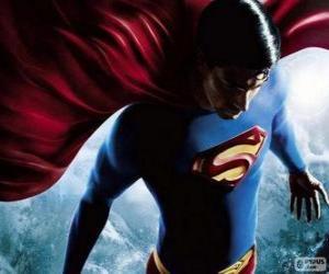 Puzzle de Superman, uno de los superhéroes más famosos