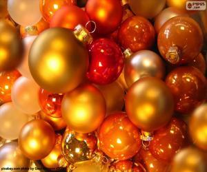 Puzzle de Surtido de bolas de Navidad