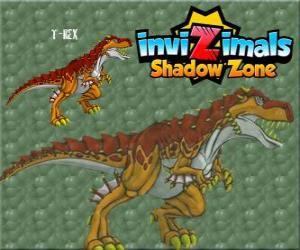 Puzzle de T-Rex. Invizimals La otra dimensión. El poderoso T-Rex es un dinosaurio Invizimal