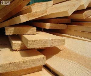 Puzzle de Tablones de madera