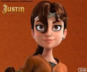 Puzzle de Talía es la compañera de aventuras de Justin