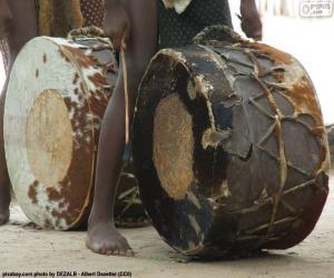 Puzzle de Tambores africanos