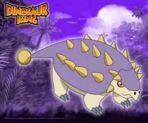 Puzzle de Tanque, Saika. Este dinosaurio Saichania es propiedad de Ed de la pandilla Alpha