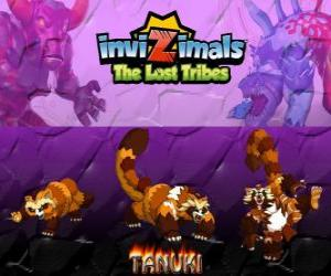 Puzzle de Tanuki, última evolución. Invizimals Las Tribus Perdidas. Poderoso Invizimal con gran confianza en sí mismo
