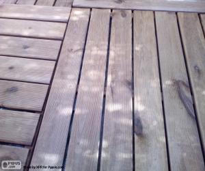 Puzzle de Tarima madera para exterior