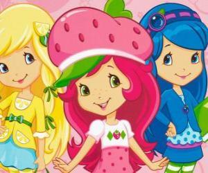 Puzzle de Tarta de Fresa o Rosita Fresita con sus amigas