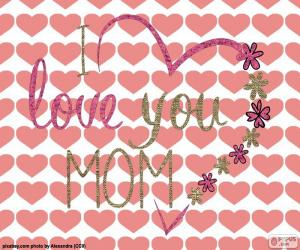 Puzzle de Te quiero mamá
