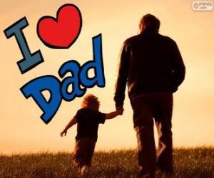 Puzzle de Te quiero papa