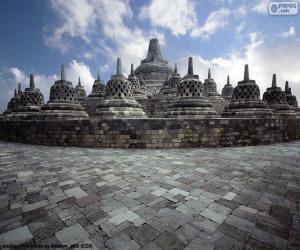Puzzle de Templo budista de Borobudur, Indonesia