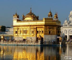 Puzzle de Templo de Oro, Templo Dorado o Harmandir Sahib, templo sij en Amritsar, India