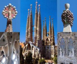 Puzzle de Templo Expiatorio de la Sagrada Familia - Sagrada Família - Barcelona, España.