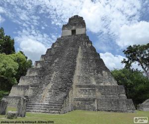 Puzzle de Templo I de Tikal, Guatemala