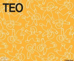 Puzzle de Teo diferentes posiciones