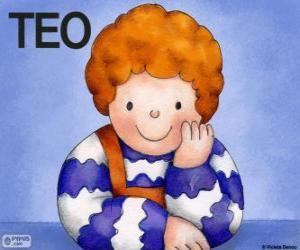 Puzzle de Teo, un personaje de los libros infantiles de Violeta Denou