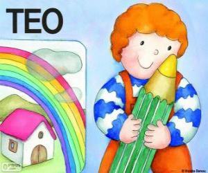 Puzzle de Teo y los colores