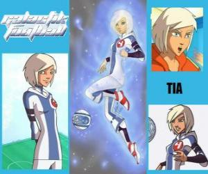 Puzzle de Tia es la jugadora número 4 del equipo de los Snow Kids, es la única del equipo que inicialmente posee el espíritu