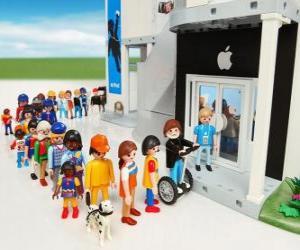 Puzzle de Tienda Apple Playmobil