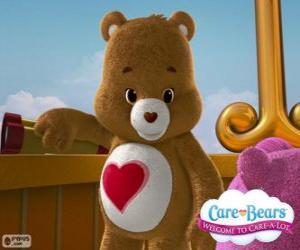 Puzzle de Tiernosito, el pequeño oso con un corazón sobre la barriga