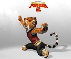 Puzzle de Tigresa es la más fuerte y valiente de los maestros del Kung Fu.