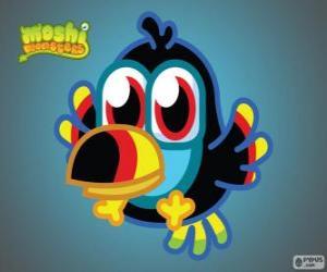 Puzzle de Tiki, es un Moshlings, el Tucán. Serie pajaros