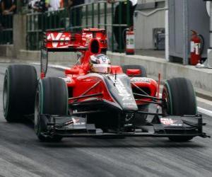 Puzzle de Timo Glock - Virgin - Gran Premio de Hungría 2010