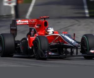 Puzzle de Timo Glock - Virgin - Monza 2010