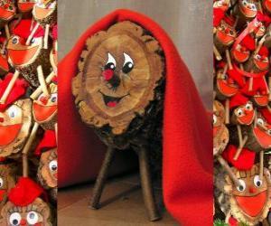 Puzzle de Tió de Nadal (tronco de Navidad), una tradición catalana, occitana (Cachafuòc o Soc de Nadal) y del Alto Aragón (Tronca de Nadal o Toza)