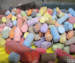 Puzzle de Tiza de colores