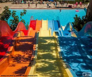 Puzzle de Tobogán parque acuático