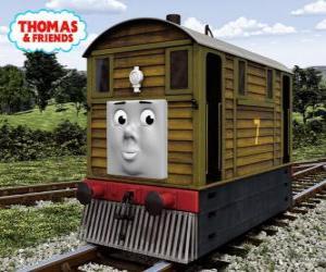Puzzle de Toby es la locomotora marrón nº 7