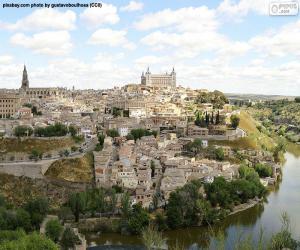 Puzzle de Toledo, España