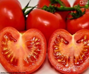 Puzzle de Tomate maduro partido
