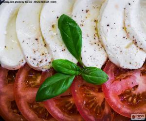 Puzzle de Tomate y mozzarella