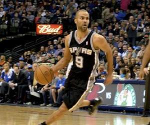 Puzzle de Tony Parker jugando un partido de baloncesto