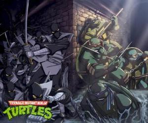 Puzzle de Tortugas Ninja en acción