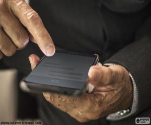 Puzzle de Trabajando con el móvil