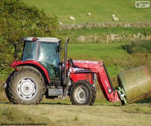 Puzzle de Tractor rojo