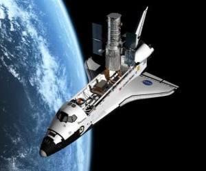 Puzzle de Transbordador espacial en el espacio - Space shuttle