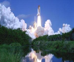 Puzzle de Transbordador espacial en el lanzamiento