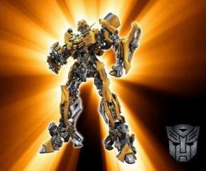 Puzzle de Transformers Bumblebee, es llamado el - pequeño hermano - de los Autobots