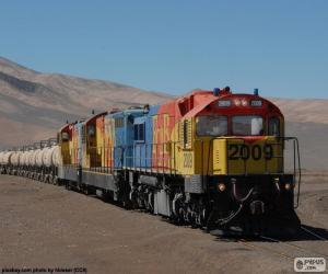 Puzzle de Tren de carga, Chile