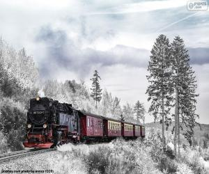 Puzzle de Tren invernal