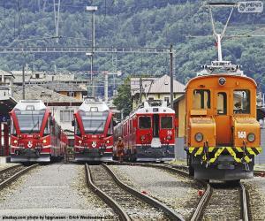 Puzzle de Trenes en la estación