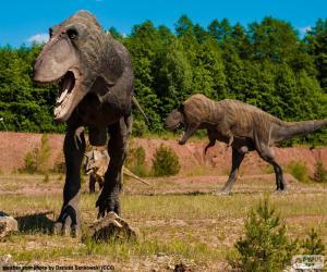 Puzzle de Tres dinosaurios