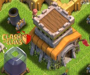 Puzzle de Tres edificios Clash of Clans