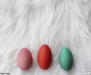 Puzzle de Tres huevos pintados