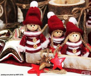 Puzzle de Tres muñecos navideños