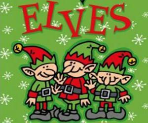 Puzzle de Tres pequeños duendes de Papá Noel