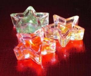 Puzzle de Tres pequeñas velas en forma de estrella
